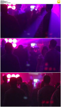 酒吧狂欢人群实拍视频素材