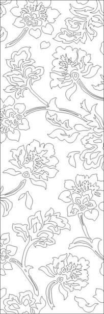 镂空花朵雕刻图案
