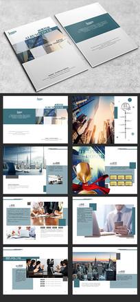 蓝色时尚企业画册模板