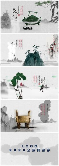 水墨中国风视频片头AE模板