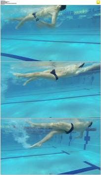 游泳池游泳实拍视频素材