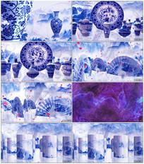 青花瓷水墨中国风视频素材