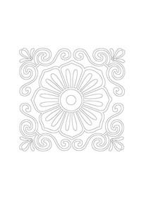 中式雕刻花瓣纹样