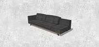 黑色组合沙发