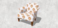花卉图案单人沙发