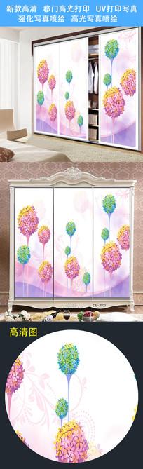 花卉衣柜移门UV打印图案