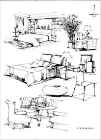 家具手绘效果图