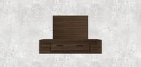 木制电视柜SU模型