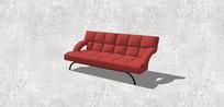 中国红双人沙发