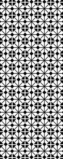 方形几何图案