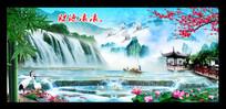 桂林山水风景画