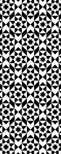 马赛克星星形状图案