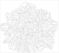 牡丹花朵雕刻图案