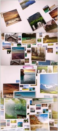 三维空间照片墙相册动画
