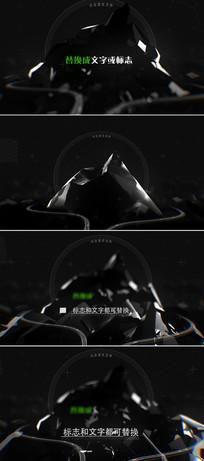 山峰破裂动画logo标志演绎ae模板