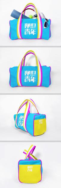 时尚旅行包样机素材 PSD