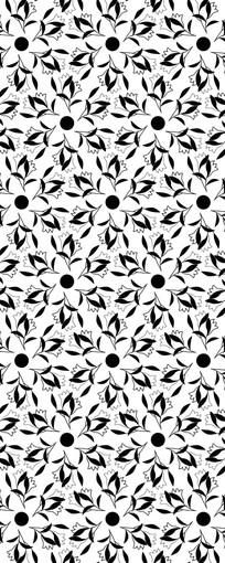 旋转花朵图案
