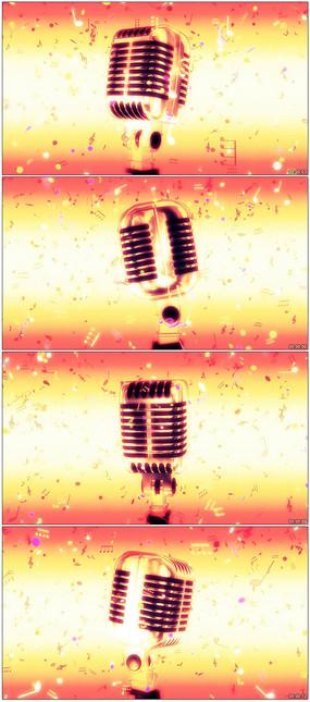 音乐符号活力漂浮舞台背景视频