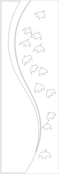 大雁往南飞雕刻图案