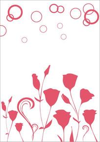 红玫瑰雕刻图案