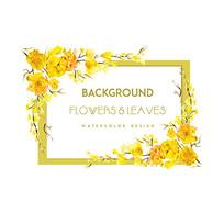 黄花边框香水包装图案素材