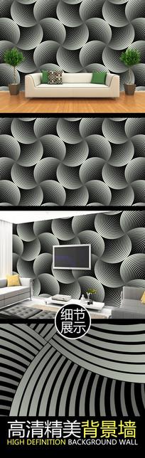 灰色弧形旋展视觉创意图案背景墙