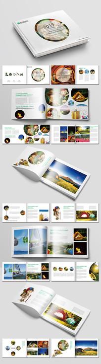 绿色夏令营手册设计
