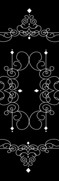 欧式线条花雕刻图案