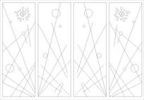 太阳花线条图雕刻图案