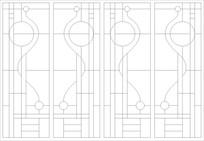 铁艺线条雕刻图案