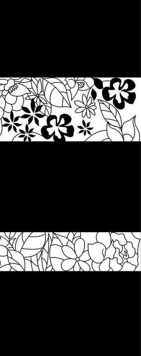 小花叶子雕刻图案