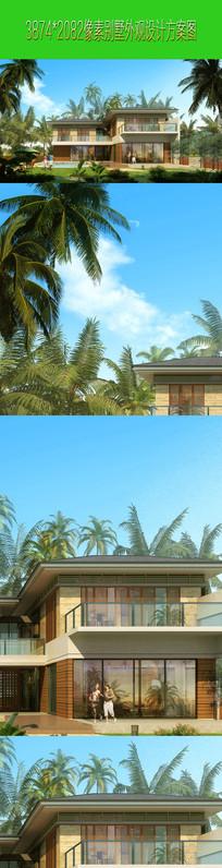 别墅建筑外观设计效果图表现