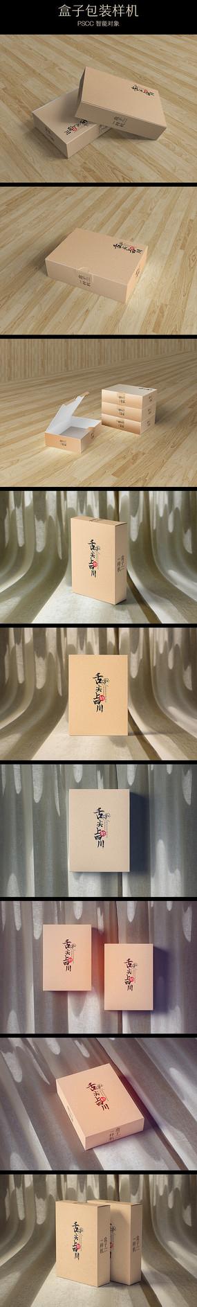 布料上长形电子包装纸盒样机