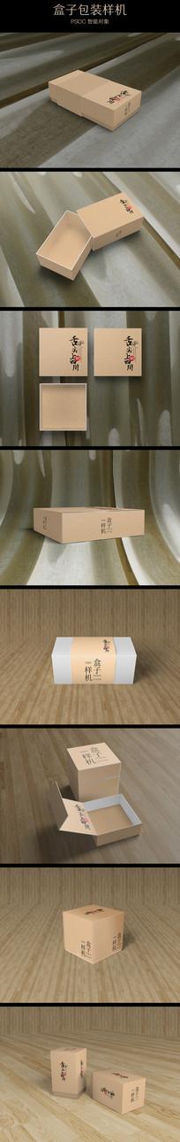 布料上方形电子包装纸盒样机