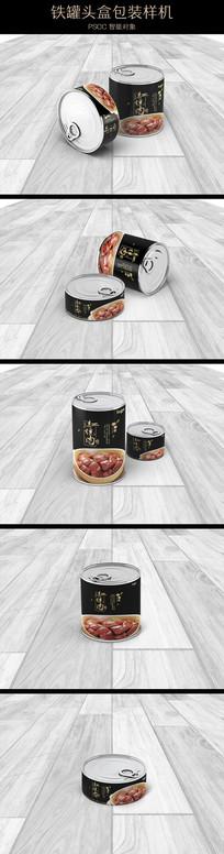 长扁多角度铁盒罐头盒包装样机