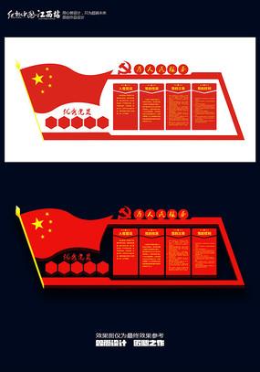 党员活动室制度文化墙设计图片