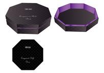 黑色八边形礼品盒包装设计