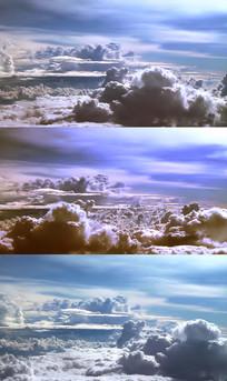 快速飘动的白云视频