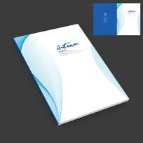 蓝色清爽产品画册封面设计