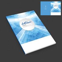 蓝色现代科技智能产品画册封面