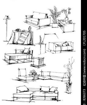 造型艺术座椅手绘画法