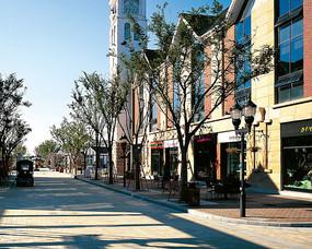 商业广场道路景观 JPG
