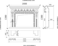室内背景壁炉CAD设计图欧式雕花欧式壁炉新款