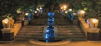 现代阶梯叠水景观 JPG