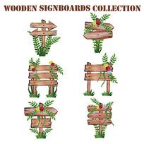 园林景观指示牌矢量素材