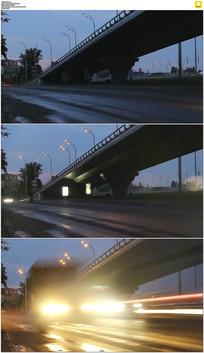 城市道路立交桥实拍视频素材