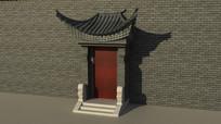 传统民居大门3d模型