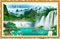 大好河山山水风景画
