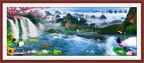 高山流水高清山水风景画