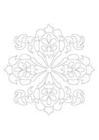 花瓣与焰火雕刻纹样